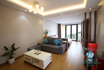 High floor studio with balcony for rent in Dong Da district, Ha Noi