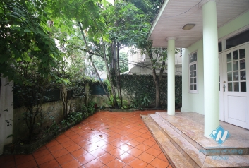 House for rent with car garage, large yard and terrace in Tay Ho, Hanoi