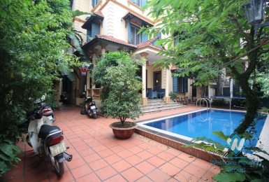 A beautiful secluded villa for rent in Tay Ho with swimming pool and garden
