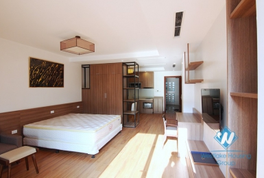 Bright and Brand new studio for rent in Dang Thai Mai, Tay Ho area.