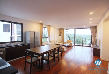 Brand new and bright 3 bedroom apartment for rent on Dang Thai Mai, Tay Ho