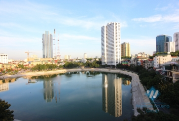 Brand new and lake view apartment for rent in Ba Dinh area, Near Lotte Building.