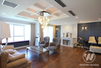Luxury and modern style apartment for rent in L block, Ciputra, Hanoi