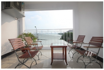 Nice 4 bedroom apartment with open view for rent on Xuan Dieu street, Tay Ho, Hanoi