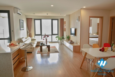 River view three-bedroom apartment for rent at Mipec Riverside Long Bien, Hanoi.