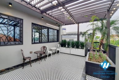 Bright and light 1-bedroom apartment with large balcony for rent in HOAN KIEM