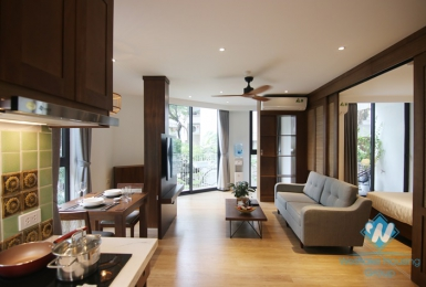 Pretty Japanese styling apartment for rent on Linh Lang street, Ba Dinh
