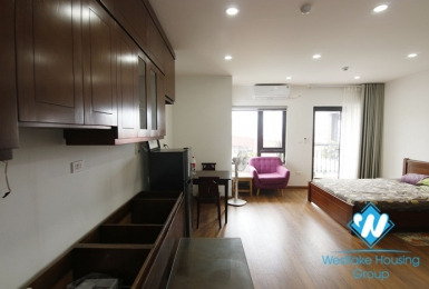 An affordable studio with good lighting for rent on Nui Truc street, Ba Dinh