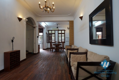 A spacious three-bedroom house on Lac Chinh street, Truc Bach area, Ba Dinh