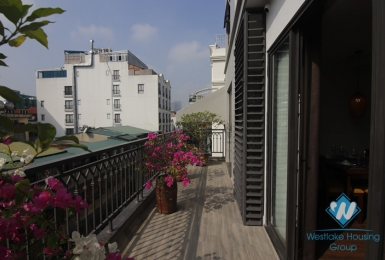 Brand new 2 bedrooms apartment with lovely balcony for rent in Kim Ma Thuong, Ba Dinh