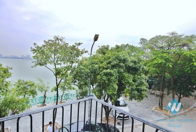 Lake view 1 bedroom apartment for lease in Yen Phu village, Tay Ho