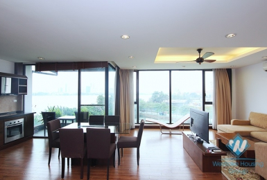 Lake view 2 bedrooms apartment for rent in Quang Khanh st, Tay Ho