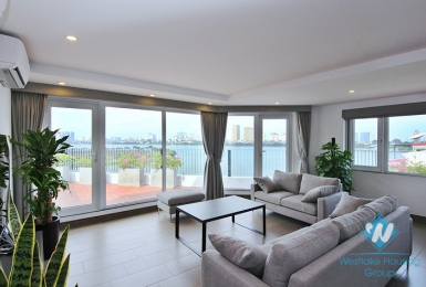 Spectacular lake view apartment for rent in To Ngoc Van st, Tay Ho, Ha Noi
