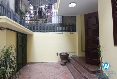 Spacious 3-bedroom house with a nice court yard for rent in Ba Dinh