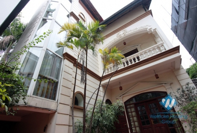French villa with large yard and garden for rent in Tay Ho, Hanoi