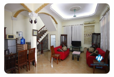 A nice  house with courtyard for rent in Ba Dinh district