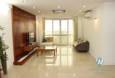 Large size apartment with nice design available for lease in Ciputra, Tay Ho, Hanoi