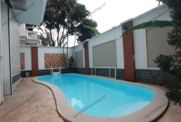 Wonderful house with nice swimming pool for rent in C block, Ciputra, Hanoi
