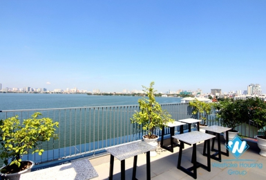 Stunning top floor one bedroom apartment for rent in Yen Phu village