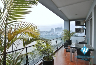 Duplex 2+ bedroom apartment with lake view for rent in Xuan Dieu,Tay Ho