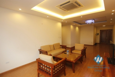 Spacious three bedrooms apartment for rent in Tran Duy Hung, Cau Giay