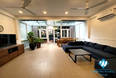 Duplex 3 bedroom apartment with backyard for rent in Dang Thai Mai,Tay Ho