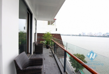 Lake view two bedrooms apartment for rent in Quang Khanh st, Tay Ho