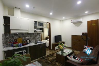 A furnished 2 bedrooms apartment for rent in Dao Tan, Ba Dinh