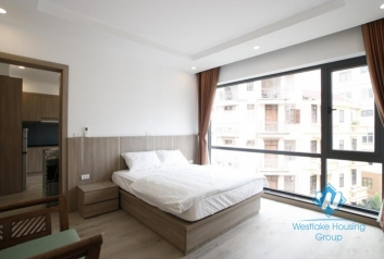 Bright & modern one bedroom apartment for rent on Hoang Quoc Viet