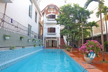 Gorgeous swimming pool villa for rent on To Ngoc Van, Tay Ho