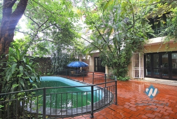 Garden swimming pool villa for rent on To Ngoc Van, Tay Ho