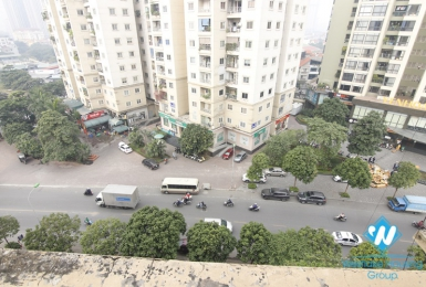 a two bedroom apartment with new view and big balcony for leasing in Yen Hoa