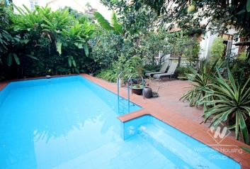 Swimming pool garden villa for rent on To Ngoc Van, Tay Ho, Hanoi