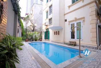Spacious villa with swimming pool for rent in Tay Ho