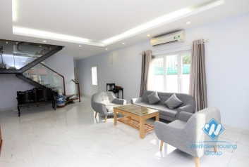Modern garden house with furnished, 2 bedrooms for rent in Tay Ho area.