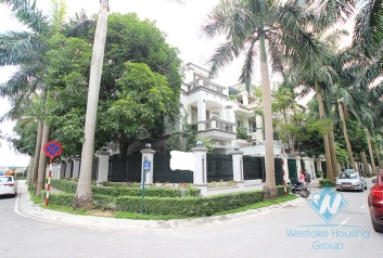 Spacious house with large courtyard for rent in Ciputra Compound, Tay Ho District, Ha Noi.