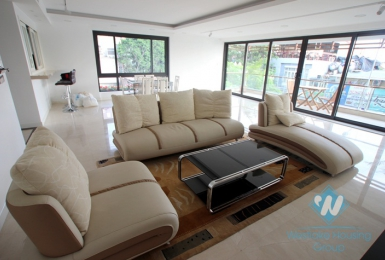 High class service apartment on the lake for rent in Tay Ho, Hanoi