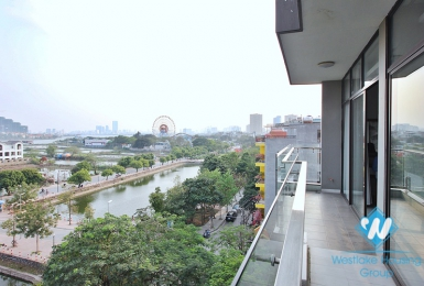 High floor 2 bedrooms apartment for rent in Trinh Cong Son, Tay Ho