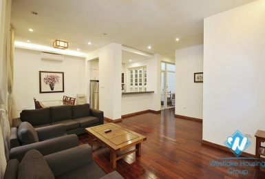 Serviced apartment with backyard for rent in Xuan Dieu street, Tay Ho