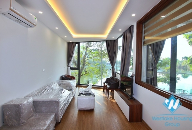 Lake view one bedroom apartment for rent in Yen Hoa street, Tay Ho