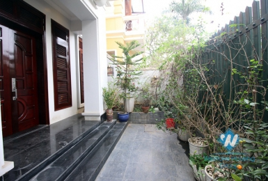 House with large garden for rent in Ciputra C area, Tay Ho, Hanoi