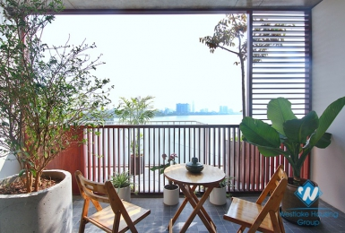 An excellent duplex apartment with unsurpassed view for rent in Tay Ho District