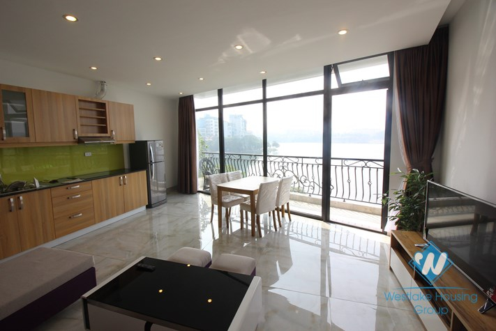 Gorgeous apartment with amazing lake view for rent in Truc Bach, Ba Dinh, Hanoi
