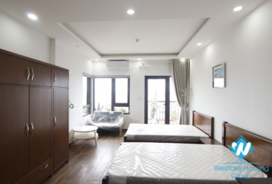 A lovely stuido with lots of natural light for rent on Nui Truc, Ba Dinh