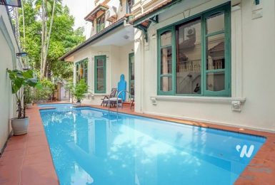 Swimming pool and garden villa with 5 bedroom in To ngoc van, Tay ho