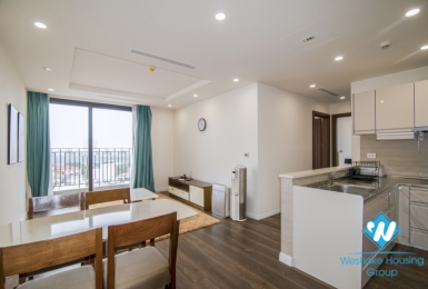 Two bedroom apartment with lake view for rent at HDI 55 Le Dai Hanh building