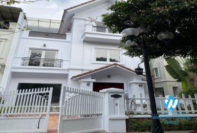 Adjoining villas for rent in Vinhome Riverside next to BIS international school