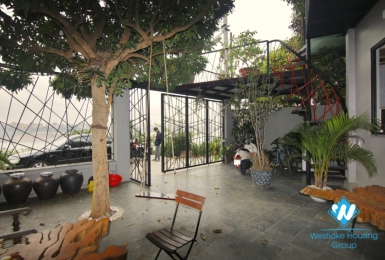 Riverside two bedroom house for rent in Ngoc Thuy Long Bien