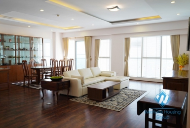 Large two bedrooms apartment for rent in L building, Ciputra, Ha Noi