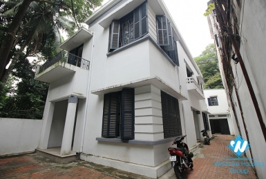 Villa for rent in Hoan Kiem is suitable for living, business or office